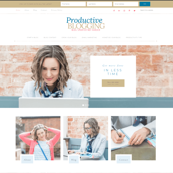 Productive Blogging Website Eb Gargano