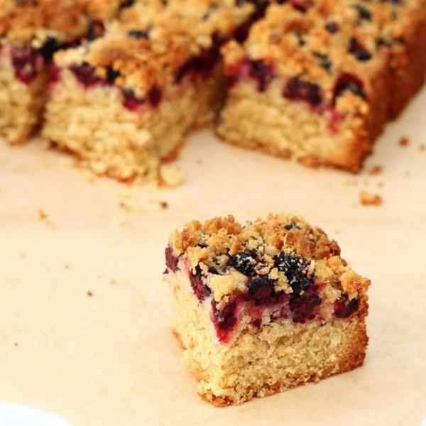 Blackberry and Coconut Traybake