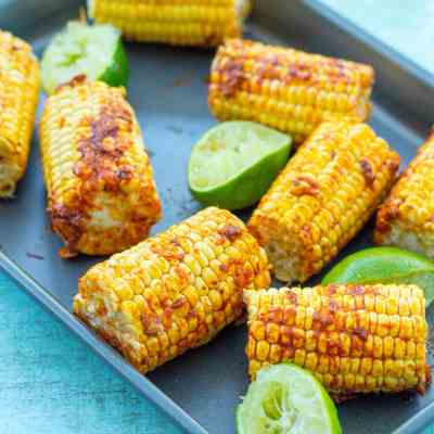 Easy Roasted Mexican Corn on the Cob (Vegan)