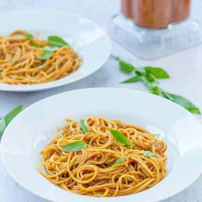 15 Minute Hidden Vegetable Pasta Sauce & Optimum VAC 2 Blender Review