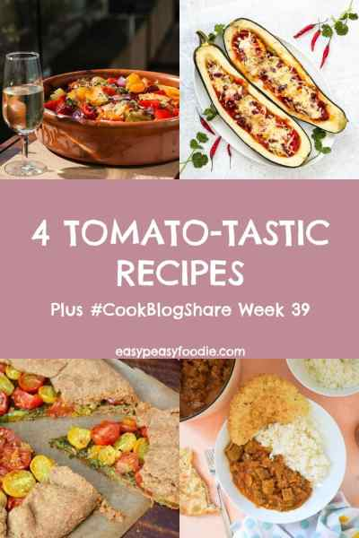Tomatoes are fantastic: packed with antioxidants, vitamins and potassium, not to mention super versatile! Celebrate this nutritional powerhouse with these 4 tomato-tastic recipes, plus find the linky for #CookBlogShare Week 39! #tomatoes #tinnedtomatoes #tomatorecipes #tinnedtomatorecipes #spanishchicken #stuffedmarrow #beefcurry #tomatogalette #easydinners #easymeals #midweekmeals #familydinners #easypeasyfoodie