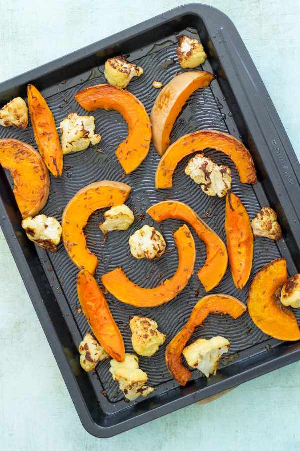 Cumin Roasted Cauliflower and Butternut Squash