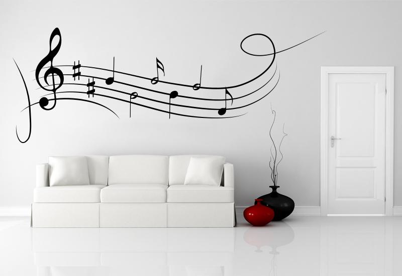 Grandi note musicali adesivo murale farfalla rimovibile adesivi murali. Note Musicali Adesive Per Decorazione Pareti Camera Note Musicali Sticker Per Decorare Camerette E Vetrate