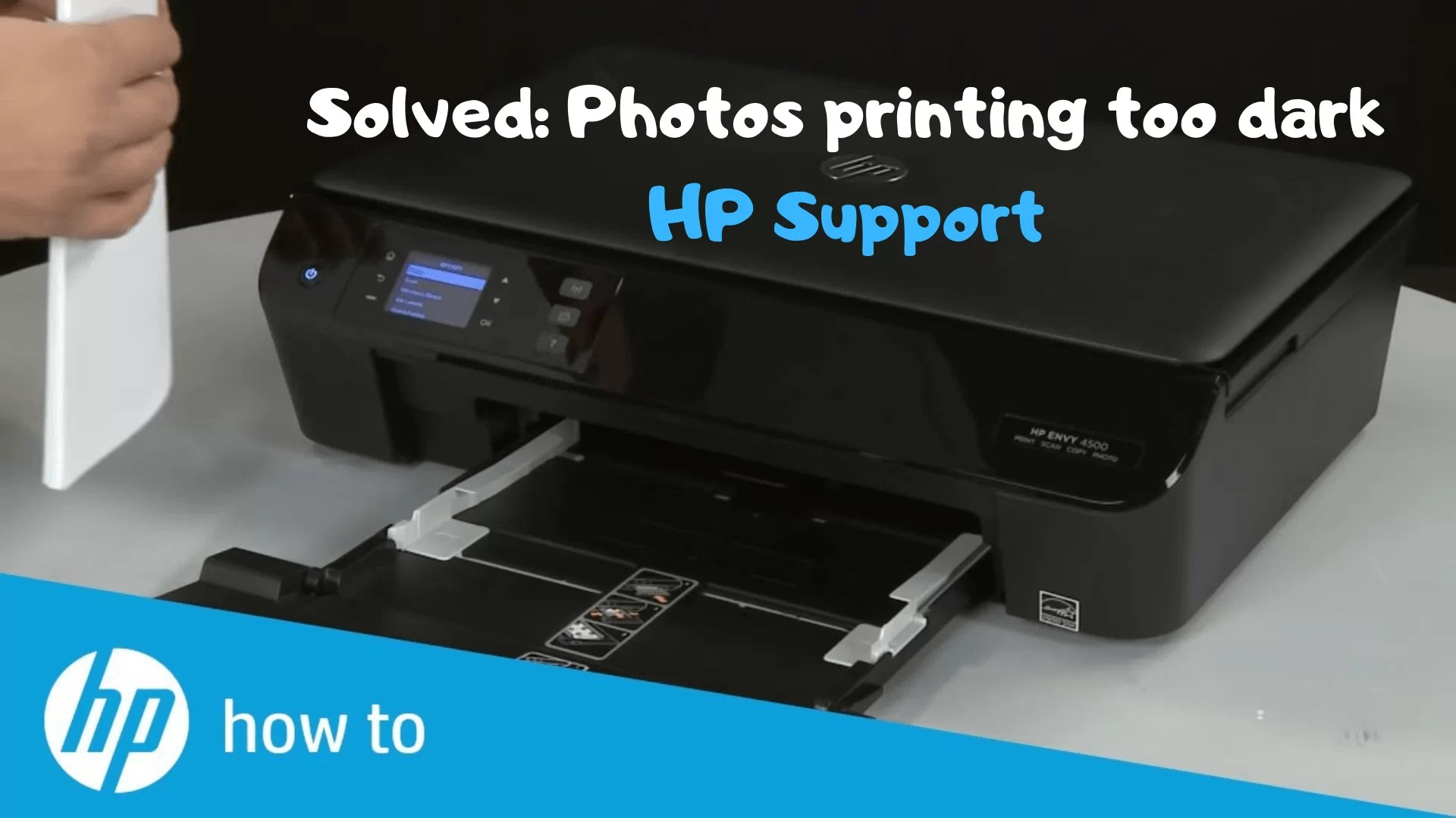 hp printer printing too dark