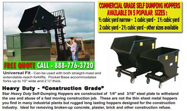 Industrial Grade Heavy-Duty Self Dumping Hoppers For Sale