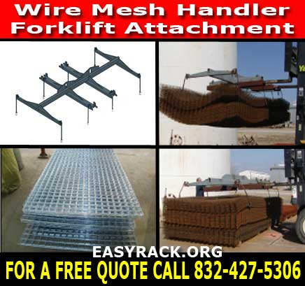 Wire Mesh Lift Forklift Attachment Equipment