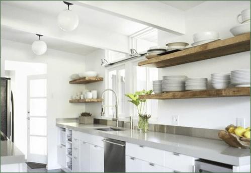 Cerchi mobili e oggetti per arredare casa e ufficio? Pin Love 4 Mensole Di Legno Per Una Cucina Senza Pensili Easyrelooking