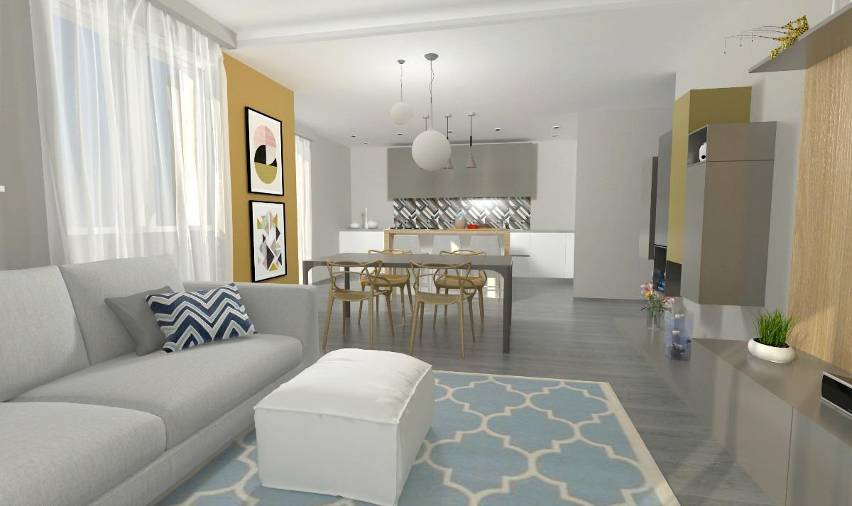 un soggiorno moderno deve essere realizzato nella stanza più luminosa della casa, a patto però che questa non sia dalla parte opposta rispetto all'ingresso. Come Arredare Un Open Space Cucina E Soggiorno La Casa Di F F Easyrelooking