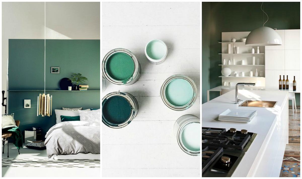 Se scegli una tonalità decisa di verde tinteggia una sola parete o due piccole pareti che fanno da sipario (come nella foto). Verde Per Le Pareti Di Casa Non Passa Di Moda E Pantone Lo Conferma