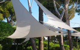 voile d ombrage triangle 5 x 5 x 5 m blanche