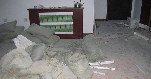 casa sporca post ristrutturazione