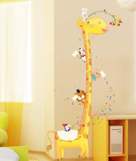 adesivi murali giraffa