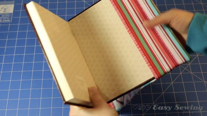 step 14 slide book cover on