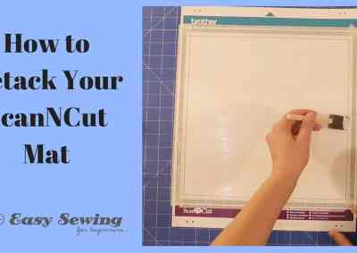 How to Completely Retack Your ScanNCut Mat
