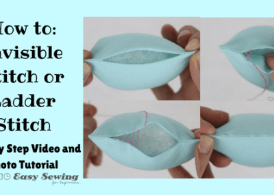 How to do a Ladder Stitch or Invisible Stitch
