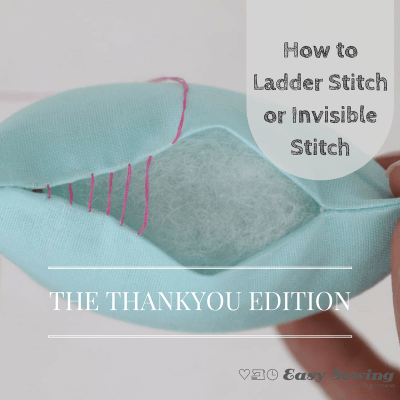 How to ladder stitch or invisible stitch square TYE