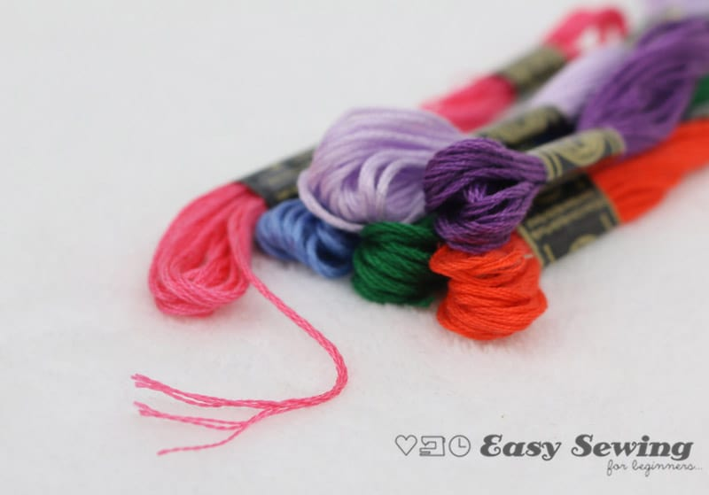 How to separate embroidery floss and prepare for hand