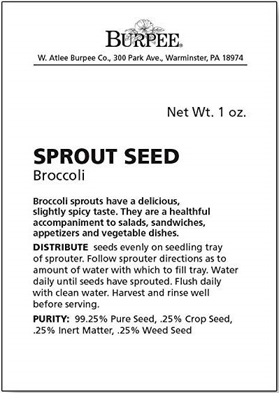 +- 3000 Broccoli Sprouts Seedss - $3.99