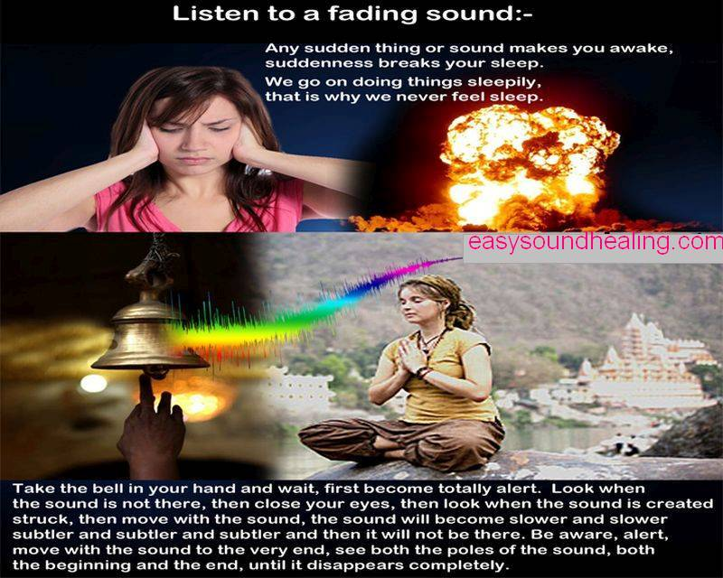 Listen to a fading sound