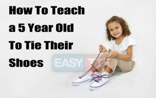 How To Teach A 5 Year Old To Tie Their Shoes