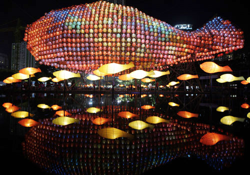 Mid-Autumn Lantern Festival in Hong Kong