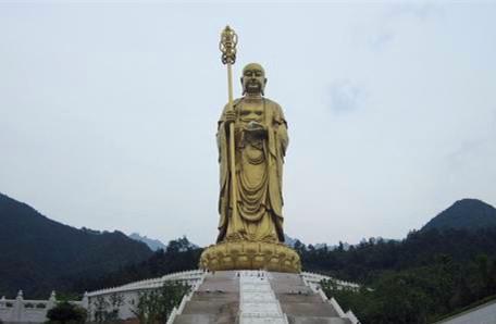 Outdoor ksitigarbha Bodhisattva Statue on Mt.Jiuhua