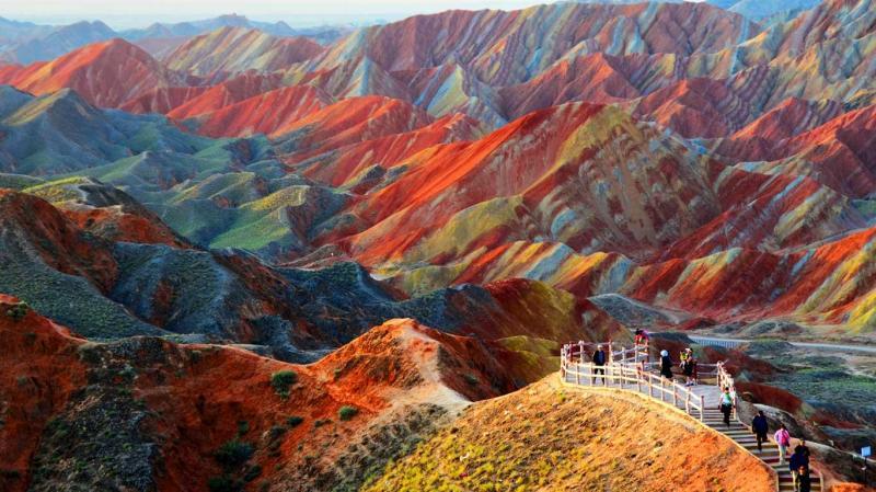 Zhangye Danxia Landform Geological Park in China