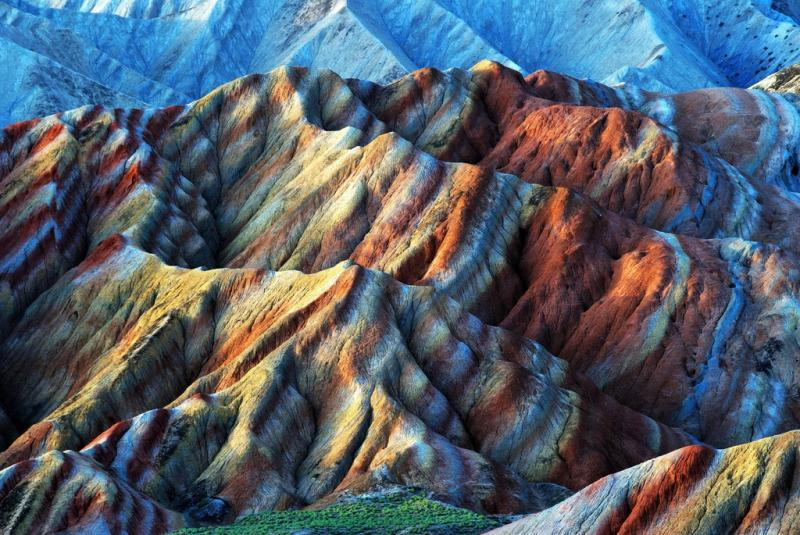 China's Rainbow mountain of Zhangye Danxia Landform