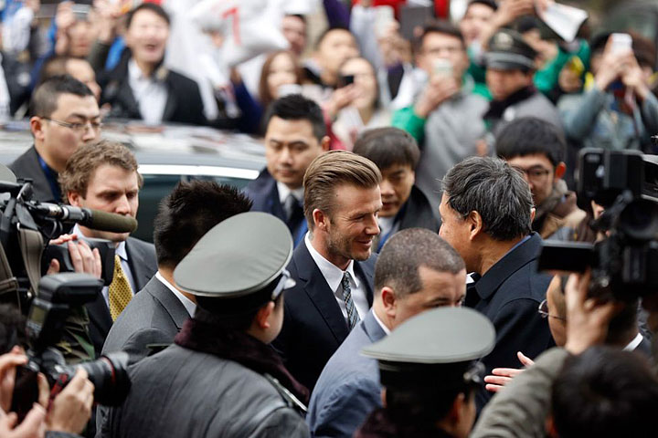 Beckham received a warm welcome in China