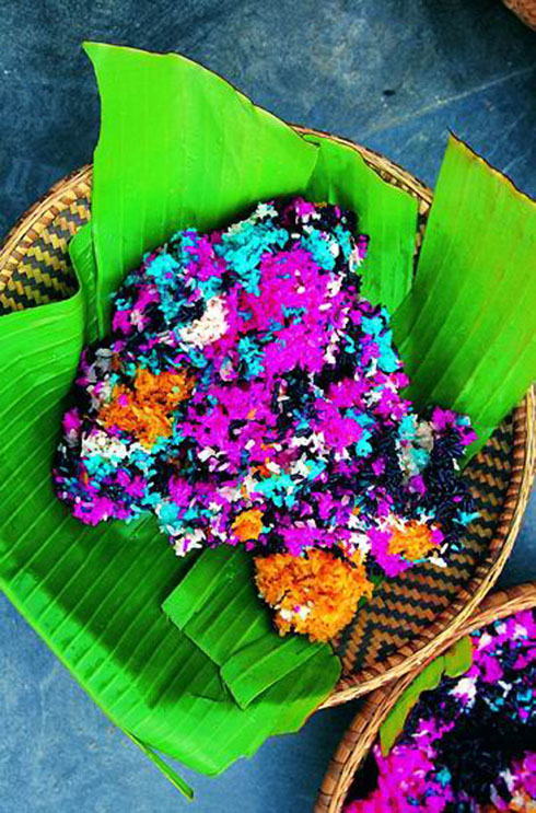 Colorful Glutinous Rice for Miao Sisters Meal Festival