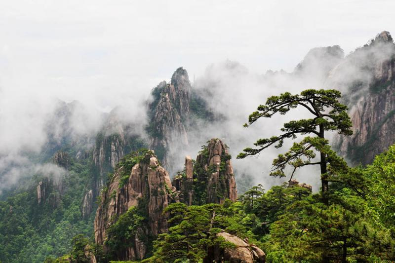 China mountains and lake tours