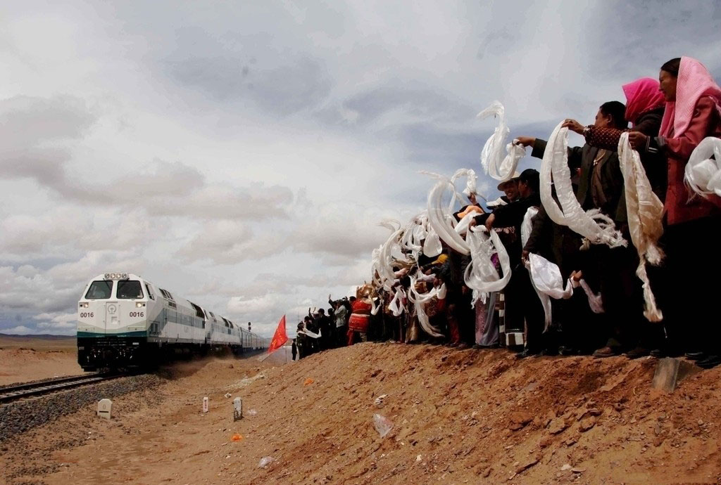 Tibetans Welcome the Trains