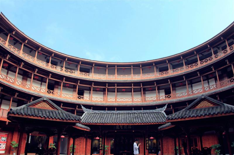 Ancient Hakka tulou buiding in Chengdu