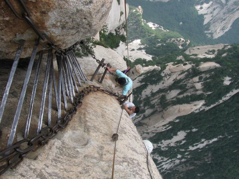 Huashan Mountain plank roads
