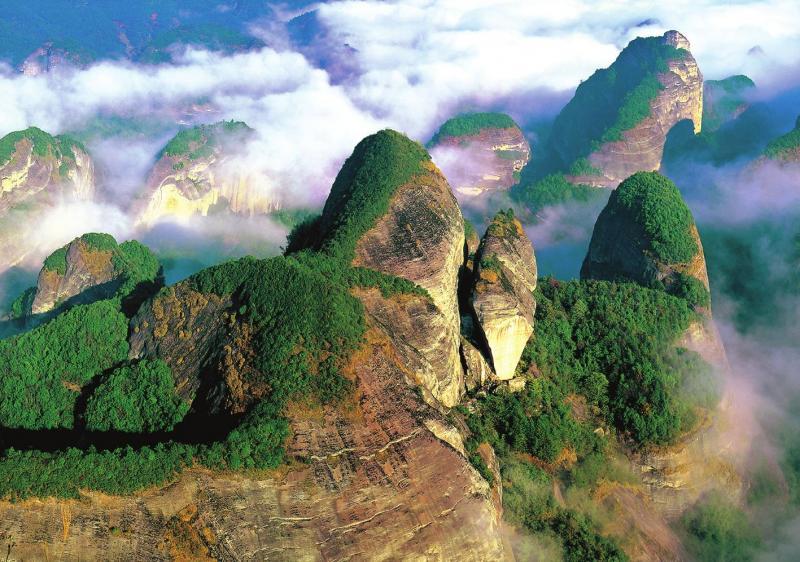 Bajiaozhai Park Danxia Landform