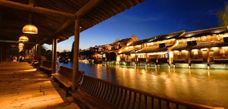 Wuzhen Water Town night view