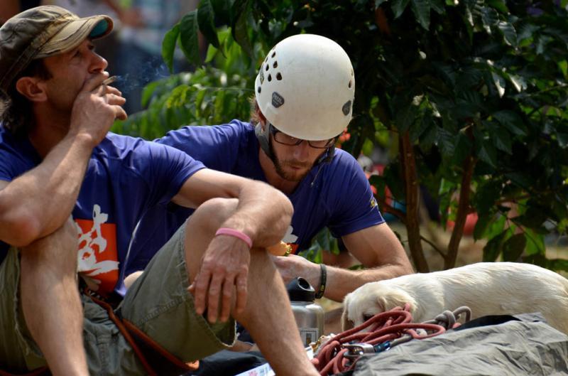 Climbers in Yangshuo