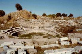 Anfiteatro Troy Turquía Costa Egeo Turquía