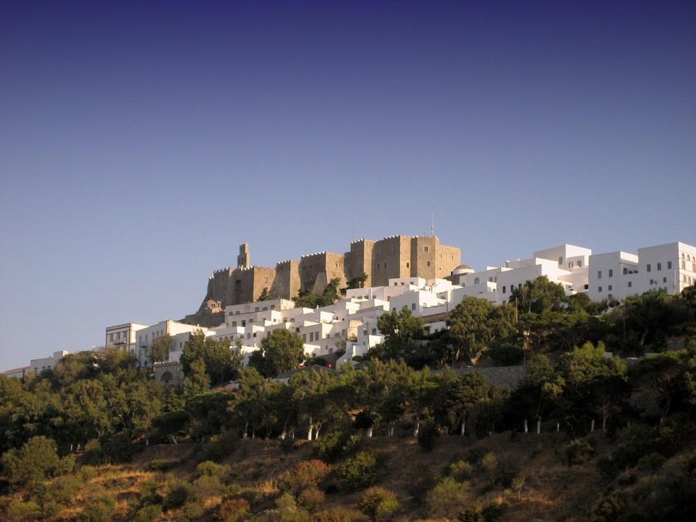 Patmos isla Grecia el castillo Costa Egeo Turquía