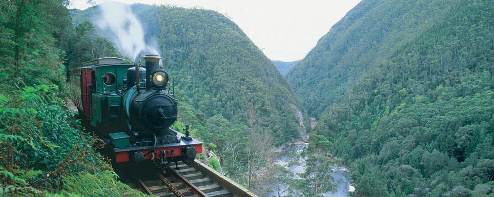 West Coast Wilderness Railway - Between Strahan and Queenstown