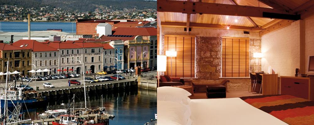 The Henry Jones Art Hotel - Hobart - Deluxe Spa Harbour View Room