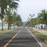 Amador Causeway on a Panama sightseeing tour