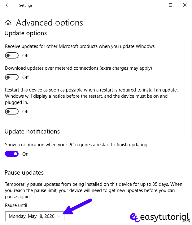 Disable Stop Turn Off Windows Update 10 Service 4 Pause Updates