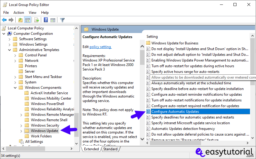 Disable Stop Turn Off Windows Update 10 Service 9 Configure Automatic Updates