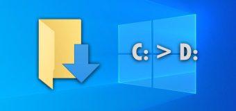 Move Change Downloads Folder Windows Different Location