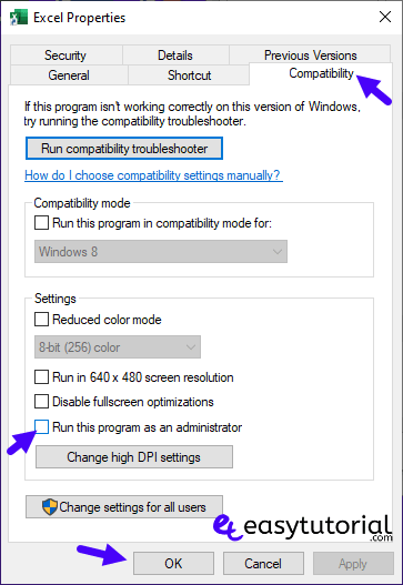 Fix There Was A Program Sending The Command To The Program 9 Compatibility Administrator
