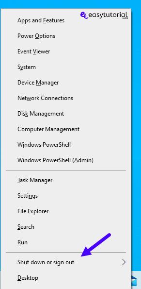 Keyboard Shortcuts Shutdown Windows 1