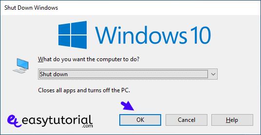 Keyboard Shortcuts Shutdown Windows 3