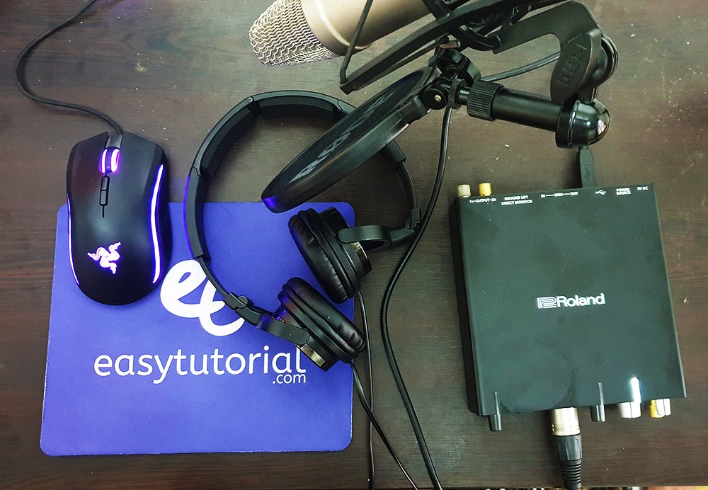 Easytutorial Setup Sound Card Roland Condenser Microphone Rode Mouse