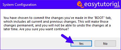 Bcdedit Add Safe Mode Boot Windows 10 Boot Menu Startup Msconfig 5 Boot Confirmation